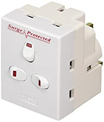 Converts 1 x 13 amp socket into three Surge Protected Individually switched sockets for comfort and ease of use Ideal for use in small spaces 13A fuse fitted