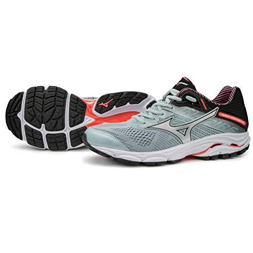 Mizuno Women Wave Inspire 15 Stability Running Shoe Running Shoes Grey - Black 5