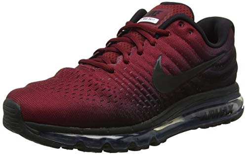 Nike Men's Air Max 2017 Gymnastics Shoes, Black (Black/Black/Team Red 001), 11 UK