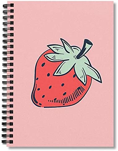Spiral Notebook Strawberry Composition Notebooks Journal With Premium Thick Fishing Log Paper product image