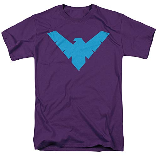 Batman Nightwing Symbol Unisex Adult T Shirt for Men and Women, Purple, 5X-Large