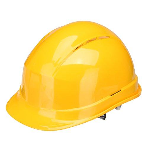 MASUNN Casco De Seguridad Abs Transpirable Borde Completo Gorra De Construcción Protector De Sombrero Duro - Amarillo