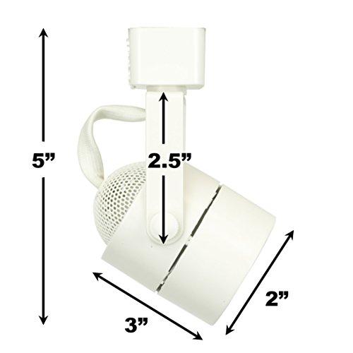 D&D Brand H System GU10 Line Voltage Track Lighting Fixture White HTC-9154-WH (No Bulb)