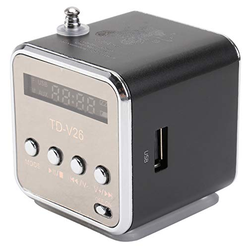 UKCOCO Mini Altoparlante Portatile Lettore Musicale Digitale Supporto Micro SD/TF Card con Radio FM