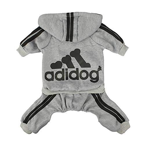 Scheppend Herbst und Winter mit Vier Beinen Hund Sweatshirts mit Kapuze,Grau Klein