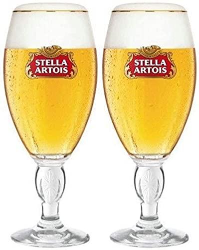 Stella Artois - Bicchieri da birraGold Rimmed, 33cl (Confezione da 2)