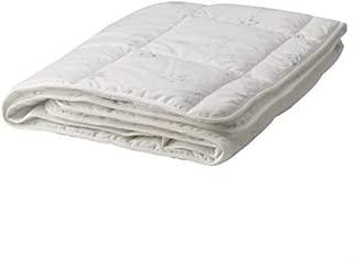 Ikea LEN STJARNA Crib Comforter Cotton Blend , White with Light Blue Stars