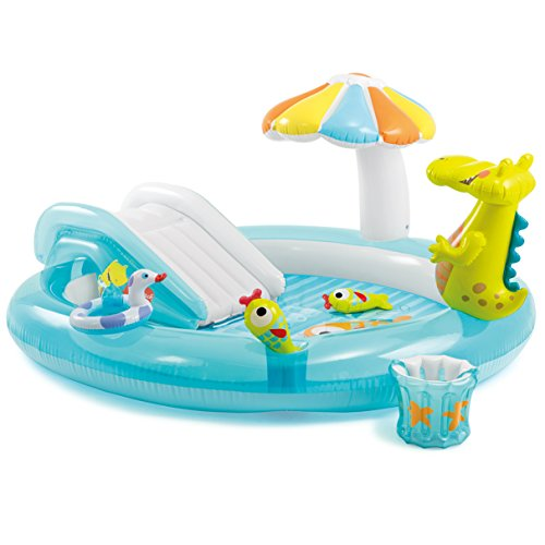 """Intex Gator Inflatable Play Center, 80"""" X 68"""" X 35"""", for Ages 2+"""