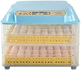 N&W Incubator Fully Automatic Chicken Egg Incubators 56/112 Eggs Hatching Hatcher with LED Lighting Automatic Turning humidification Temperature Control (Size : 56 Eggs Types : Dual Power Supply)