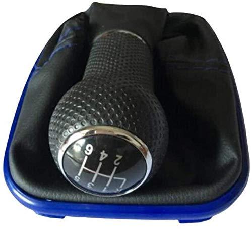LDJTO 5 6 Velocidades 12 mm Coche Cuchillo Palanca de Cambios Funda de Cuero para Botas, para Golf 4 Bora MK4, para Jetta 4 1998-2004 Palanca de Cambio de Marchas (Tamaño: B) -G