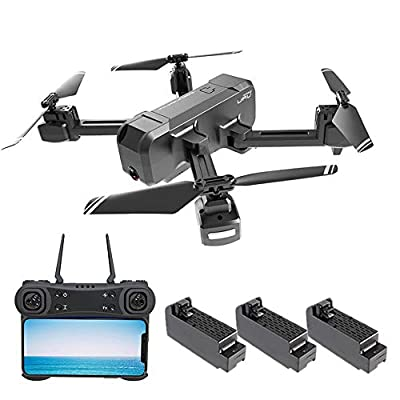 Ceepko KF607 4k Drone with Camera, Foldable FPV Drone with Gesture Photo, Follow Me, GPS Auto Return, Optical Flow Positioning System and Altitude Hold Mode