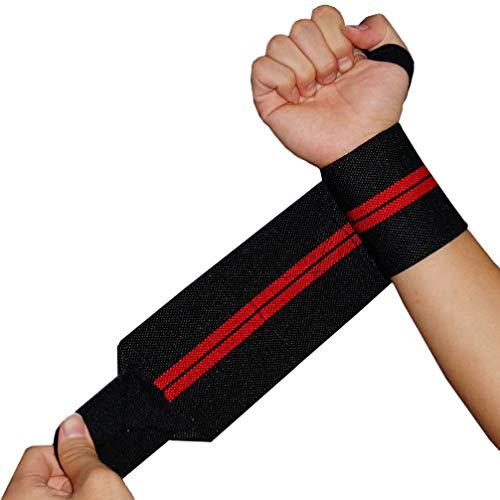 BESPORTBLE 1 Paar Fahrrad Fitness Handgelenk Unterstützung Atmungsaktive Sport rutschfeste Handgelenkstütze Armband 2 Stück (Schwarz Und Rot)