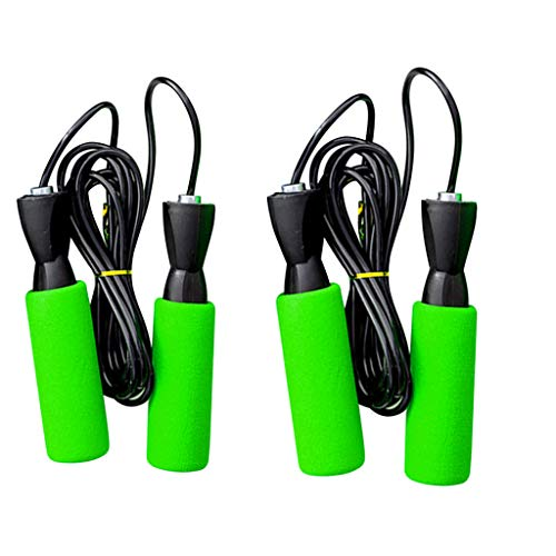 GDJGTA 2PCS Jump Ropes for Workout,Heavy Jump Rope with Memory Non-Slip Foam Grip Handles for Aerobic Exercise, Fitness