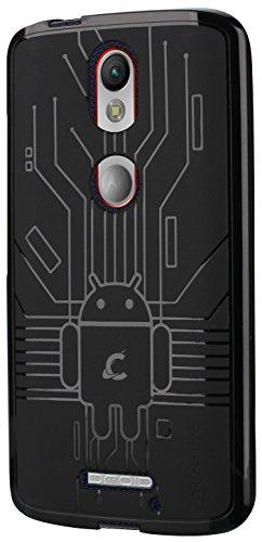 Cruzerlite Bugdroid Schlussfall für Motorola Moto X Force schwarz
