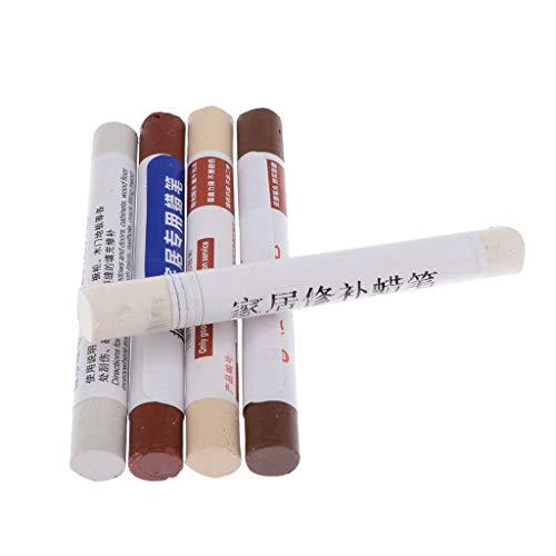 perfeclan 5 Piezas de Cera de Reparación, Crayones de Cera para Rascar Y Reparar