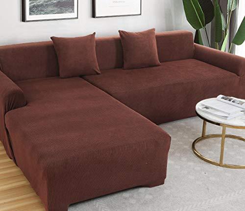 lxylllzs Sofa ÜBerwurf Stretch Sofabezug,Einfarbige universelle Sofabezug, elastischer, fauler, Rutschfester Typ 190-230CM_9,Sofabezug FüR Sofa, Sofaschutz