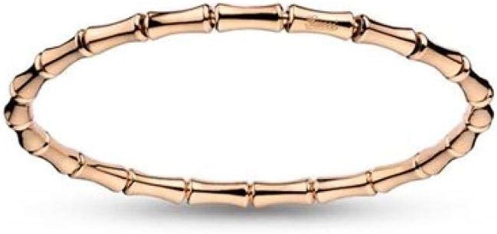 Bracciale bamboo, linea elastica meccanismo a molla in oro rosa 18kt, per donna, 8,8 gr  YBA284730003017