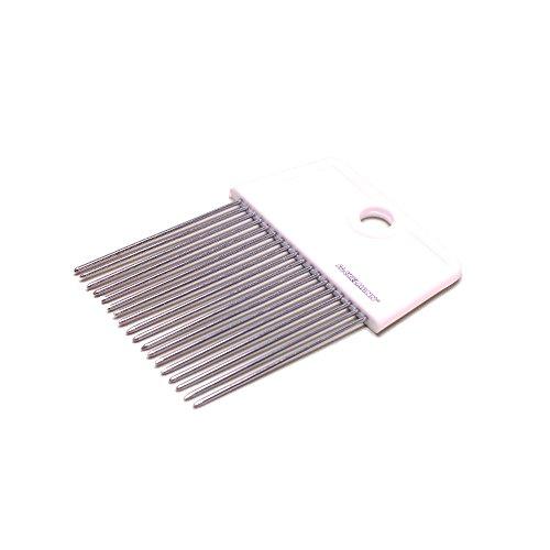 Fackelmann 48391 Support d'oignons 9x7cm en SAN/INOX, Acier Inoxydable, Blanc/Argent, 9 x 7 x 0,7 cm