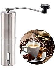 GuanRen Mábrillo de café Manual para cafetera Cerámica Cerámica 304 Mano de Acero Inoxidable Molino Molino Molinillo Cerámico Máquina de molienda de café