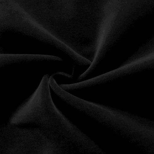 STOFFKONTOR Bühnensamt Samt Stoff B1 schwer entflammbar - Meterware, schwarz - zum Nähen von Vorhängen und Dekorationen
