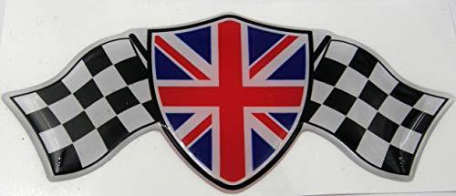 3D Doming - Bandera de bandera, diseño de bandera de Reino Unido, color azul y rojo