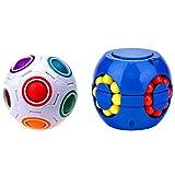 Cuberspeed Bundle Rainbow Ball Magic Fidget Toy Puzzle Magic Ball Cube