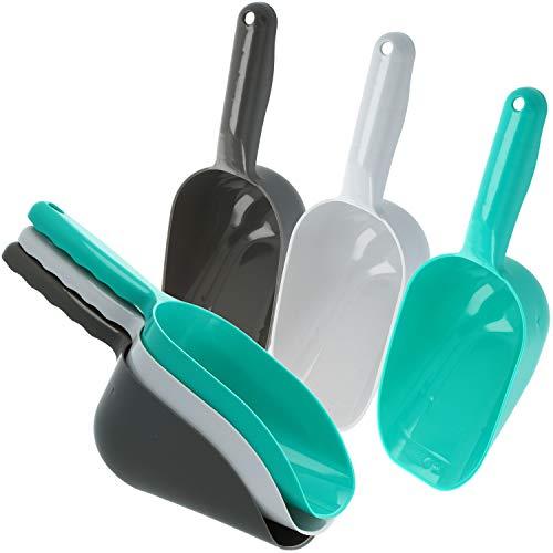 com-four® 6x Messschaufel - große Messlöffel für Mehl, Getreide oder Tierfutter - Schaufel universell im Haushalt einsetzbar (6-teilig - groß)