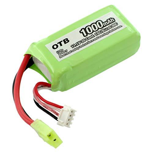 OTB 8004314 - Batteria compatibile con Parrot AR.Drone ai polimeri di litio, 1000 mAh, colore: Verde