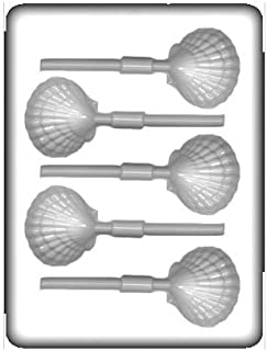 CK Products 8H-12834 Clam Lollipop Hard Candy Mold, White