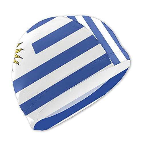 Funny Club Zwemmutsen voor jongens meisjes, Uruguay Vlag Unisex Zwembadmutsen voor korte/lang haar voor de leeftijd 3-15…