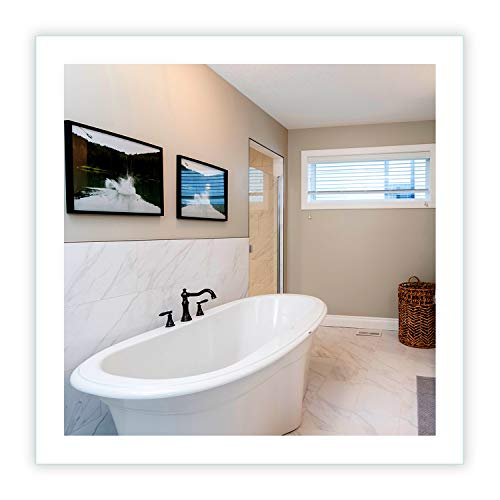 Mirrors & Marble LED Side-Lighted Bathroom Vanity Mirror: 30' Wide x 30' Tall - Square -...