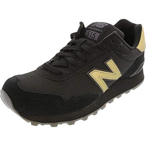 Zapatillas deportivas para mujer New Balance 515 V1, negro (Negro/Fantasma/Oro Metálico), 38 EU