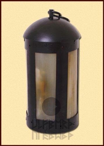 Ulfberth Runde Laterne mit Hornfenstern, handgefertigt Kerzenständer - Kerzenleuchter