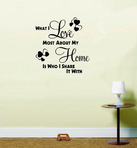 LightningSigns CE Que J'aime Le Plus About My Home Salon Chambre à Coucher Art Mural Autocollant