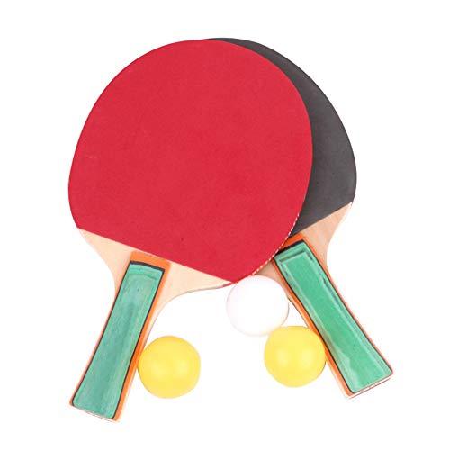 LHAA Los murciélagos de tenis de mesa 1 par paleta de ping pong Palo con 3 bolas conjunto de entrenamiento for adultos principiantes for niños estudiantes Actividad Familiar, Escuela y club deportivo