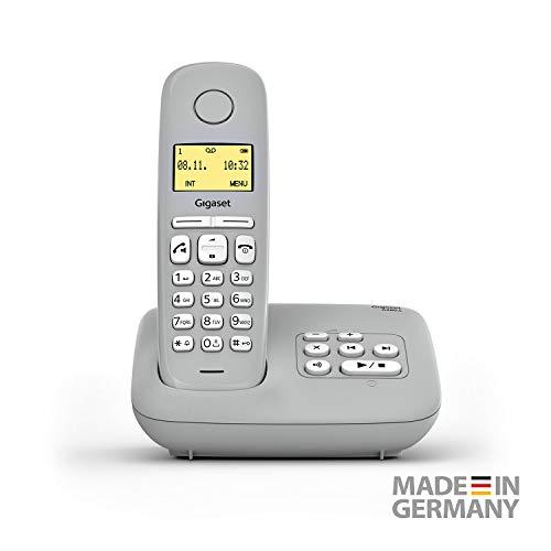 Gigaset A280A DECT-Schnurlostelefon mit Anrufbeantworter für beste Kommunikation mit großem Grafik-Display, perfekter Audioqualität und Freisprechfunktion - Made in Germany, Grey Medio