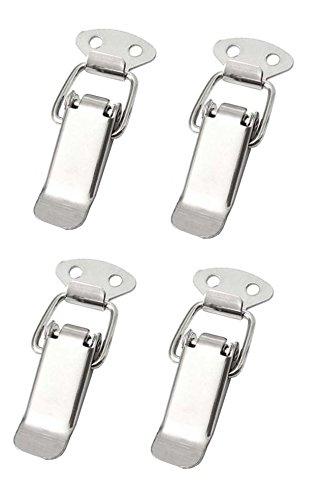 4x Spannverschluss Edelstahl, ideal als Kistenverschluss Klappverschluss - Verschiedene Größen & Varianten (45 mm, Normal)