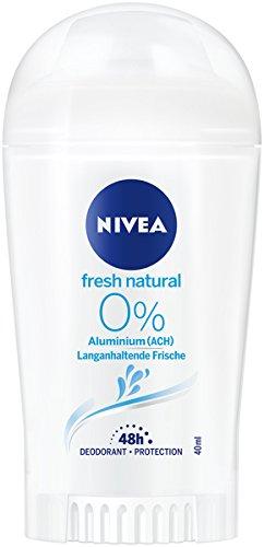 NIVEA Fresh Natural Deo Stift im 6er Pack (6x 50 ml), Deo Stick ohne Aluminium mit frischem Blumenduft, Deodorant mit 48h Schutz pflegt die Haut