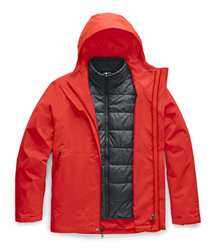 The North Face Men's Carto Triclimate Jacket, Fiery Red/Asphalt Grey, Large
