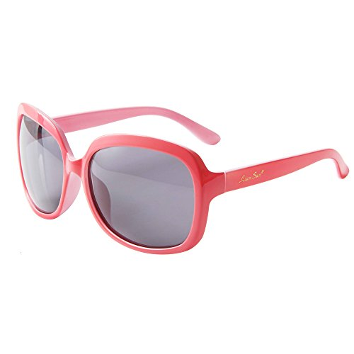 LianSan Oversized Women's Uv400 Protection Polarized Sunglasses Simple Sunglasses Lsp301(polarized red 2)