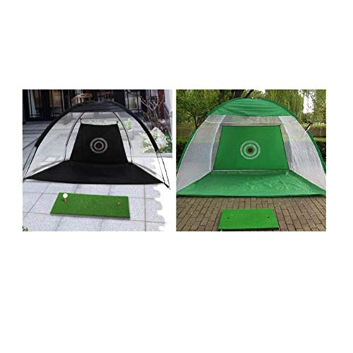 Great Features Of LXP Golf Practice Net, Green Nylon Mesh Golf Folding Net, for Outdoor Indoor Backy...
