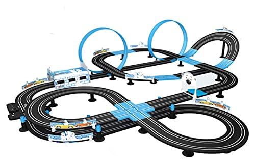 Slot Car Vehicle Race Sets Electric Track Racing Toy Control Remoto Coche Gran Doble Ranura Pista Competitiva Track Car Interactivo Asamblea Juguetes Niño Navidad/Cumpleaños Aficiones