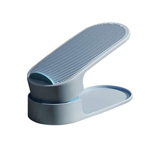 Homoyoyo Organizador de Ranuras para Zapatos Apilador de Zapatos Ajustable Doble Plataforma Soporte de Pie Zapatero Armario Ahorro de Espacio Unidades de Almacenamiento para Fácil