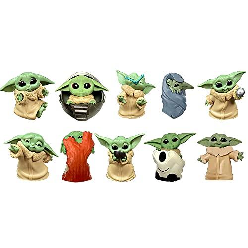 BESTZY Baby Yoda Toy 10 Figuras de Peluche para Bebé Baby Yoda Doll Figure Modelo de Acción para la Oficina o Los Niños
