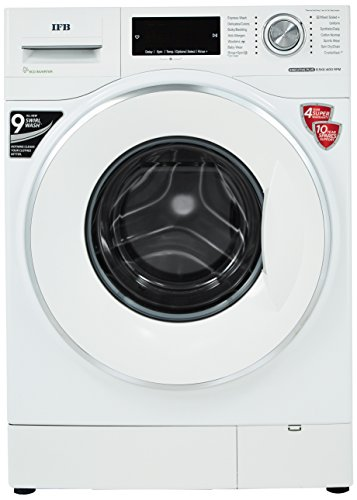 IFB 8.5 kg Inverter Fully-Automatic Front Loading Washing Machine (Executive Plus VX ID, White,...