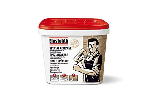 Elastolith 55023 Kleber, gebrauchsfertig für Ziegel, flexibel, Grau