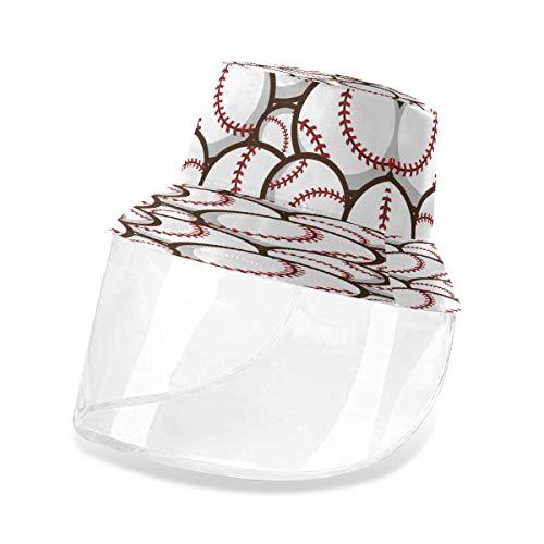 ALARGE - Cappello protettivo da pescatore astratto sportivo palla da baseball, anti polvere, raggi UV, secchio da pesca, con maschera rimovibile per uomo e donna Multi M