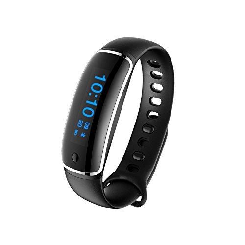 OOLIFENG Orologio da inseguimento per idoneità, Smartband Pedometro Bracciale Bluetooth Activity Tracker, Sleep Monitor, per iPhone e telefoni Android