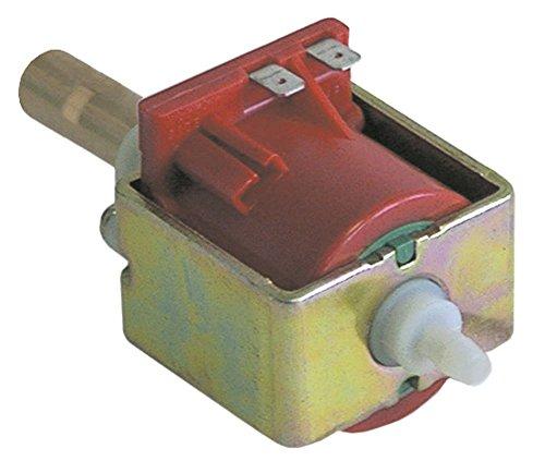 ULKA Bomba vibratoria EX5 para Gaggia 48 W, 24 V, entrada de 6 mm de diámetro, salida plana, longitud de 123 mm, salida de latón 50/60 Hz, salida plana