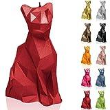 Candellana - Candela a forma di gatto | Altezza: 18,2 cm | Rosso | Realizzata a mano in UE
